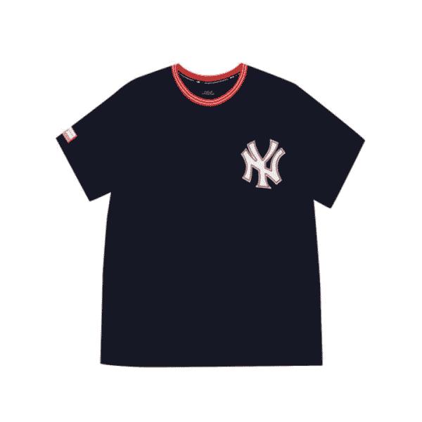 ao-phong-mlb-new-york-yankees-coopers-tab-short-sleeve-navy
