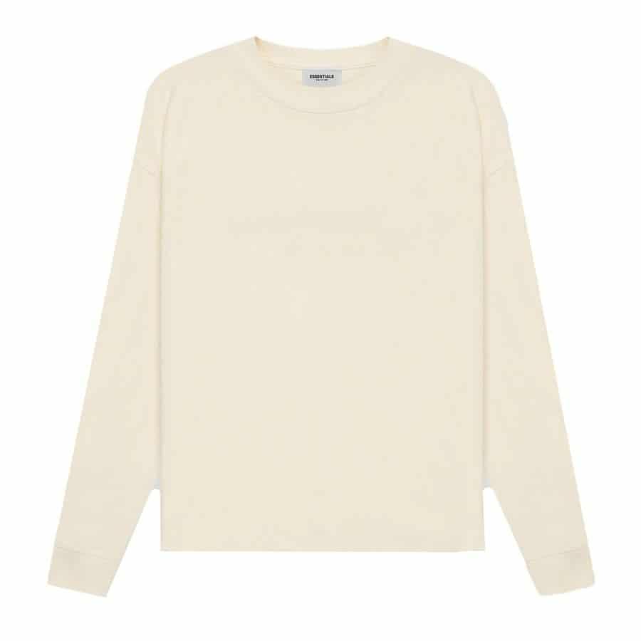 ao-thun-fear-of-god-essentials-long-sleeve-t-shirt-ss21-Cream-Buttercream