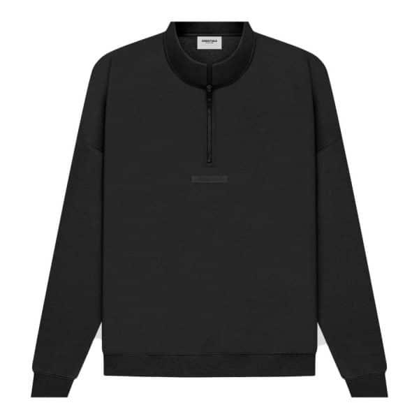 ao-sweater-fear-of-god-essentials-Half-Zip-Black-Stretch-Limo