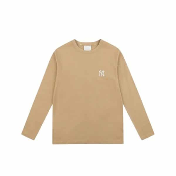 ao-thun-mlb-long-sleeve-basic-big-logo-new-york-yankees-brown-31ts3l111-50b